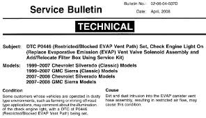 Check Engine Light Codes Gmc Sierra 2500hd Questions Purge Or Solenoid Evap Vent Located