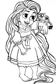 hair color book coloring 7 tangled baby rapunzel