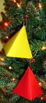 learning ideas grades k 8 making tetrahedron shaped ornaments