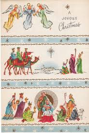 Susan Wallace Barnes Christmas Cards Beautiful Mid Century Christmas Card Nativity Wise Men Angels