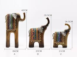 resin abstract elephant sculpture large lucky thai feng