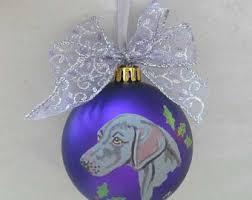 weimaraner ornament etsy