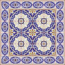 Blue Border Tiles Seamless Pattern From Tiles And Border Moroccan Portuguese Azulejo