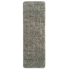 rug runner 2 x 6 ottomanson luxury shaggy collection shag solid design gray 2 ft 2