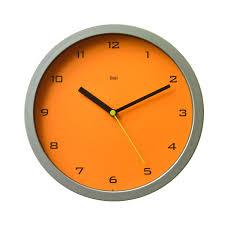 designer wall clock gotham tangerine thomas bai designs