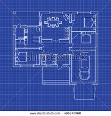 blueprint floor plan blueprint floor plan modern apartment on stock vector 495848968