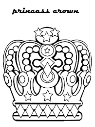 princess crown noble family coloring netart