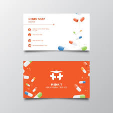 Medical Business Card Design Business Card For Medical Services Vector Free Download