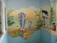 décoration jungle chambre bébé décoration mural pour chambre d enfant roi dans la jungle