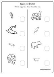 kindergarten activities big and small bigger and smaller worksheets activity sheets for toddlers