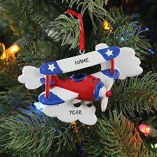 personalized airplane ornament ebay