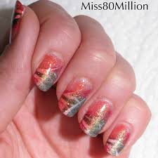 glittery abstract nail art tutorial how to paint a glitter nail