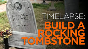 tombstones for amazing timelapse diy rocking tombstone for how to make
