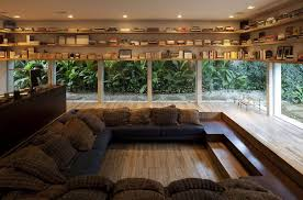small symmetrical reading room ideas interior with window seat