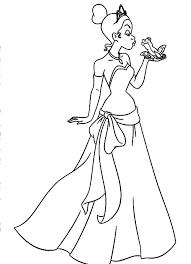 Baby Tiana Coloring Pages Brilliant Design Princess And The Frog Princess And The Frog Colouring Pages