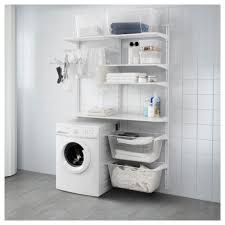 Laundry Room Storage Between Washer And Dryer by Algot Wall Upright Shelves Drying Rack White 132x41x199 Cm Ikea
