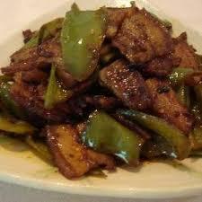 cuisine chinoise porc recette poitrine de porc sautée au piment vert toutes les