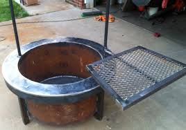 Fire Pit Grill Insert by Build A Fire Pit With Cooking Grill In Your Backyard