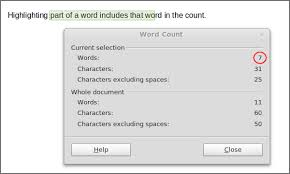 Count Words In A Text Document Word Count Character Count Libreoffice Writer Open Source Options