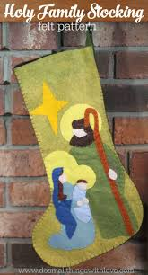 holy family christmas stocking pattern christmas crafts