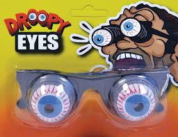 pop out eye glasses funny novelty joke mad scientist halloween
