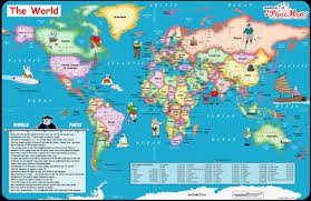 The Best Map Of The World by Placemutts World Placemat Map For Kids Jimapco