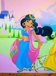 disney princess mural sacredart murals jasmin in girl s bedroom wall mural