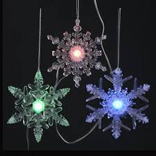set of 8 led musical color changing battery operated snowflake