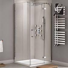 Shower Door Screen Frameless Shower Enclosure Side Panel 8mm Glass Door Screen Bath