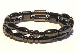 bracelet with magnetic images Magnetic hematite double strand bracelet jpg