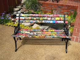 Personalized Park Bench Unique Wooden Bench Decorating Ideas To Personalize Yard
