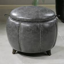 Ottoman Table Storage by Furniture Red Velvet Storage Ottoman Which Is Having Rounded