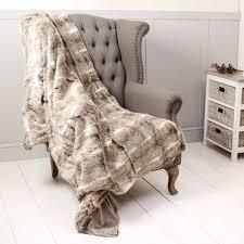 Faux Fur Throw Blanket Luxury Faux Fur Throw Blanket