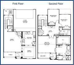 two floor plan 2 storey house floor plans with diions home deco plans