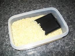 Phone Rice Meme - how to save a wet cell phone or tablet