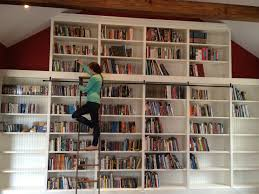 Rolling Bookcase Ladder by Furniture Bookshelf Ladders Ikea Billy Bookcase Hack Stylish