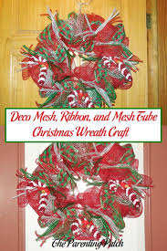 christmas mesh ribbon deco mesh ribbon and mesh christmas wreath craft