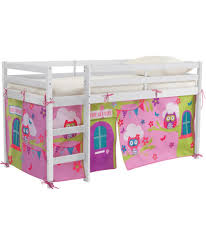 girls beds uk buy chad valley lester white shorty mid sleeper bed u0026 owl tent at