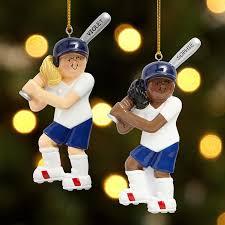 Softball Christmas Ornament - shop personalized sports christmas ornaments from personal creations