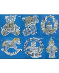 don t miss this bargain six white gold lace german ornaments 1021