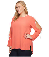 split sleeve blouse vince camuto specialty size plus size sleeve flutter cuff
