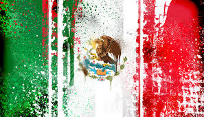 Mexixan Flag Mexican Flag Abstract Painting Wallpaper