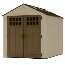 Rubbermaid Roughneck Gable Storage Shed Accessories by Suncast 6 X 8 Everett Storage Shed Walmart Com