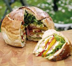 Summer Lunch Menu Ideas For Entertaining - stuffed picnic loaves are the food hack you need this summer