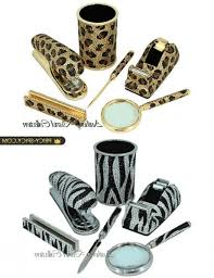 Zebra Desk Accessories Animal Print Desk Accessories Designsbyemilyf
