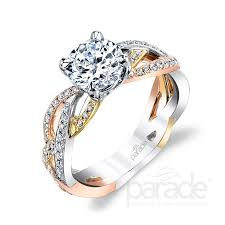 gold metal rings images Parade 39 s mixed metal engagement rings are enchanting in brides jpg