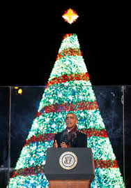 obamas usher in with lighting of national tree nation