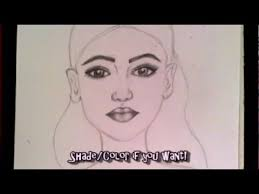 シ how to draw a female face for begginers youtube