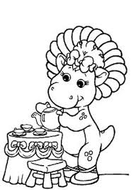 barney coloring pages print whanco mylittlesweet