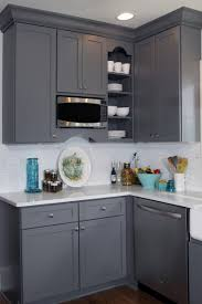Dark Grey Kitchen Cabinets Classic Gray And White Interior Design Color Choices
